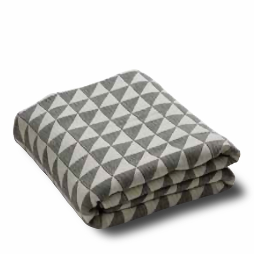 Facet Bedspread, Ecru/Black