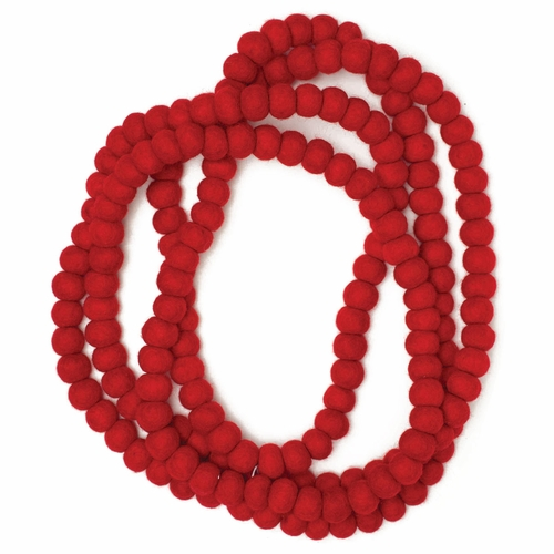 Feel Felt Garland, Red - 10'