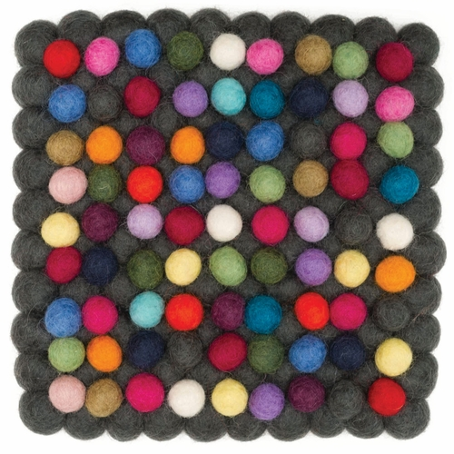 Feel Felt Trivet - Double-Layer Multi, 7""
