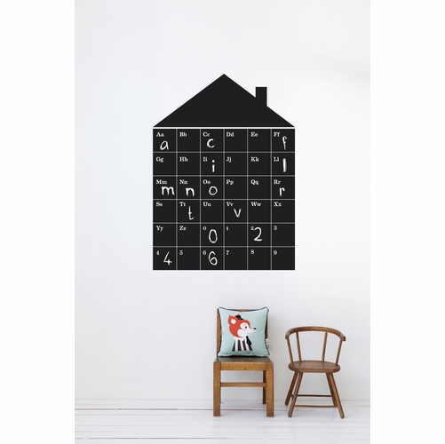 ferm LIVING ABC House - Black Children's Wall Sticker