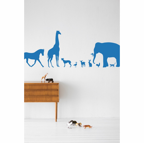 ferm LIVING Animal Farm - Blue Children's Wall Sticker