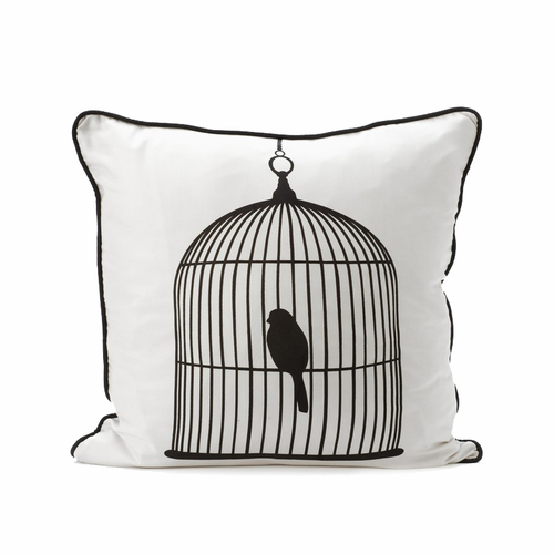 ferm LIVING Birdcage Cushion - White / Black