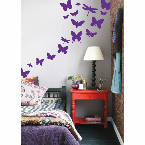ferm LIVING Butterflies - Violet Children's Wall Sticker