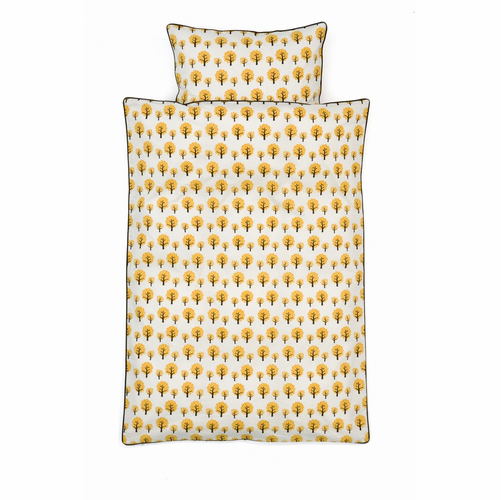 ferm LIVING Dotty Duvet and Pillow Cover - Baby - Yellow
