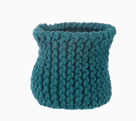 ferm LIVING Knitted Basket Petrol - Small