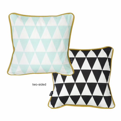 ferm LIVING Little Geometry Cushion - Mint