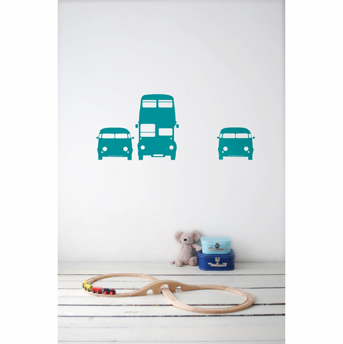 ferm LIVING Rush Hour - Turquoise Children's Wall Sticker