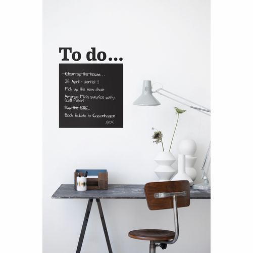 ferm LIVING To Do - Black Wall Sticker