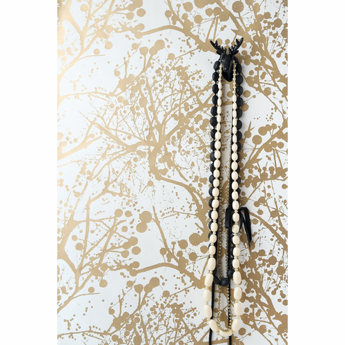 ferm LIVING Wilderness - White / Gold Wallpaper