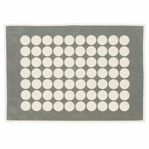 Pappelina Fia Cotton Chenille Blanket - Warm Grey, 3 1/4' x 4 1/2'