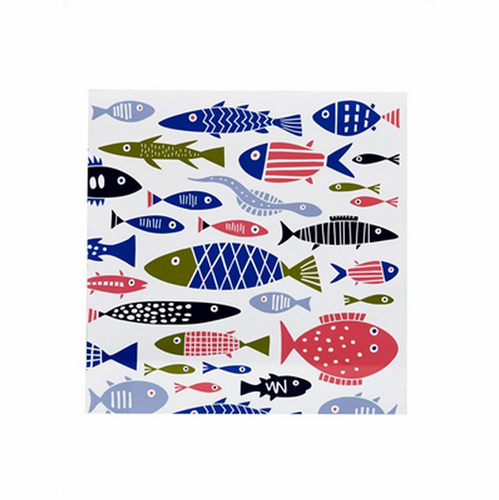Fish Paper Napkins, Pack of 20