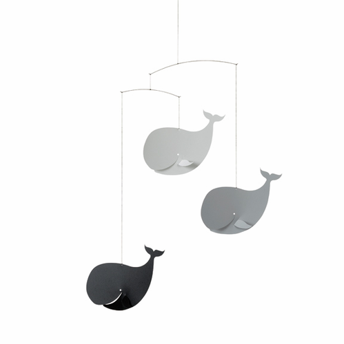Flensted Happy Whales, Black-Grey Mobile