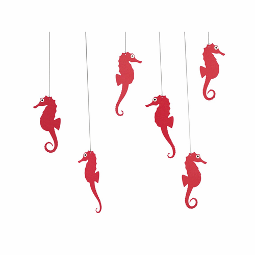 Flensted Sea Horse Mobile, Red