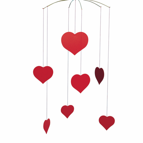 Flensted Valentine Happy Hearts Mobile