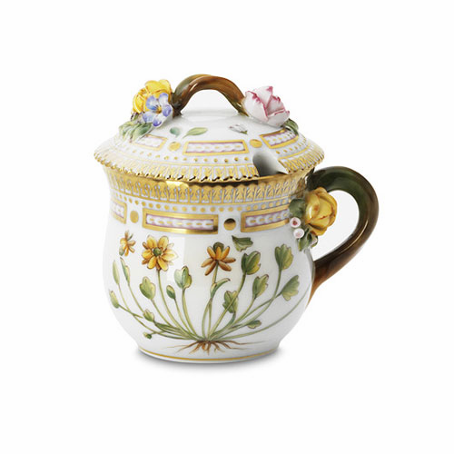 Flora Danica Covered Mustard Pot 3.25oz