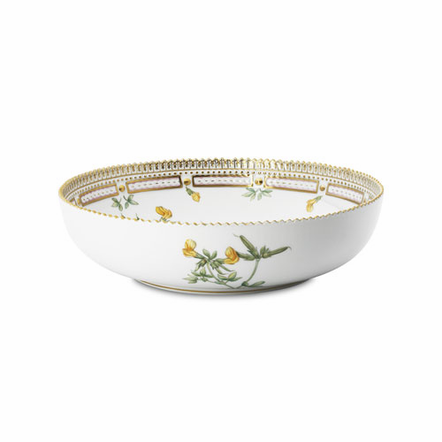 "Flora Danica Low Round Salad Bowl 9"" 63.25oz"