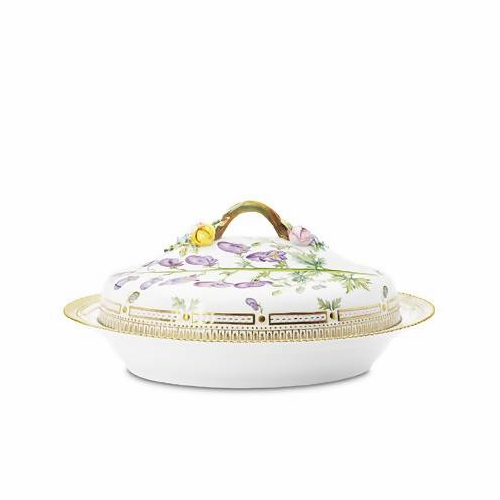 Flora Danica Oval Dish with Cover