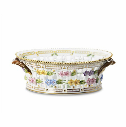 Flora Danica Oval Fruit Basket