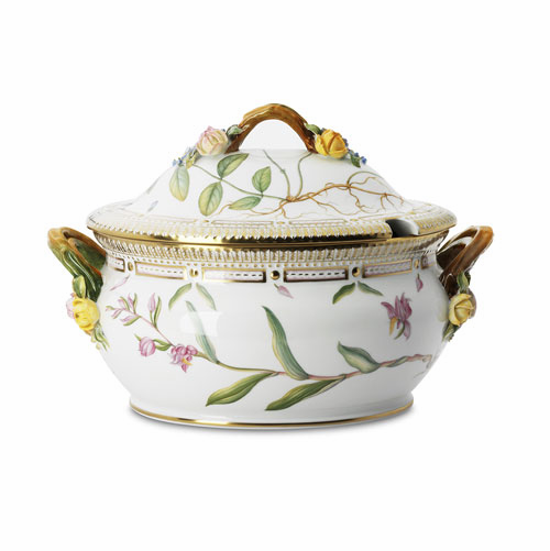 Royal Copenhagen Flora Danica Oval Tureen with Cover & Stand (Large)