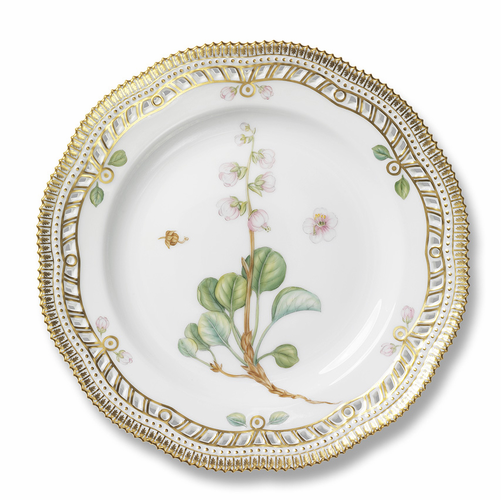 Flora Danica Plate with Lace Border