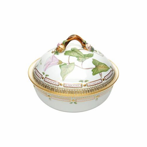 Flora Danica Round Dish with Cover
