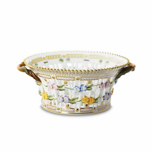 Flora Danica Round Fruit Basket (Small)