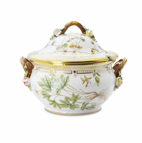Flora Danica Round Tureen with Cover & Stand