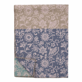 Floral Merino and Lambs Wool Blanket - 2 Colors - Click to enlarge