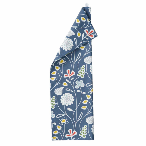 Flower Meadow Kitchen Towel, Blue