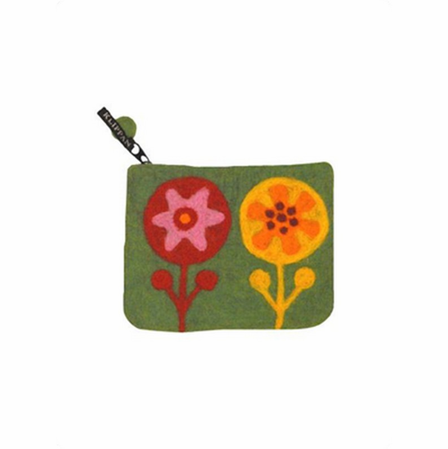 Flower Power Felted Wool Purse