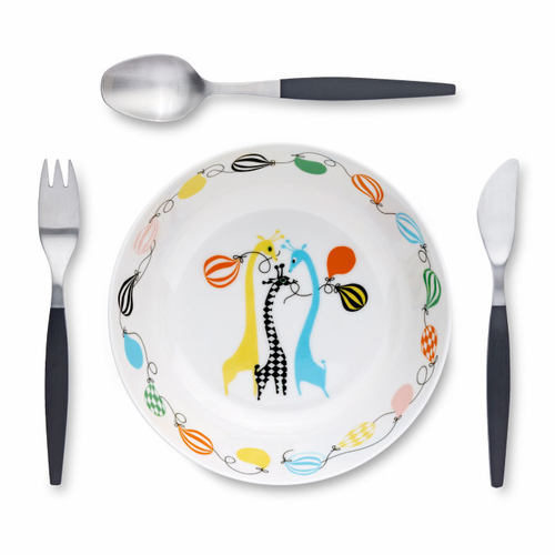 Gense Focus De Luxe Junior Dinning Set, 4 Pieces (04, 05, 83, melamine bowl)