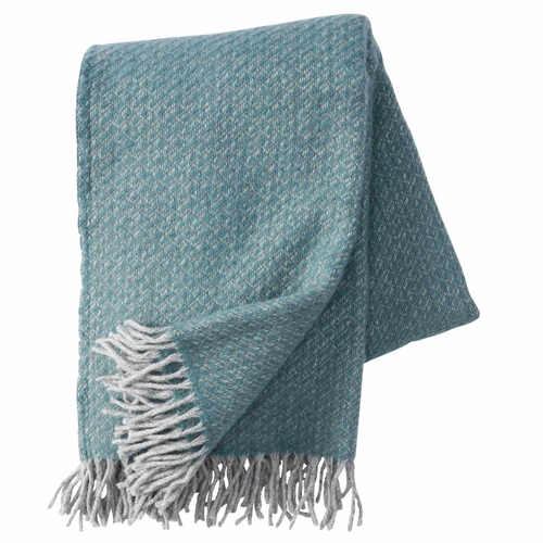 Fogg Brushed Gotland & Lambs Wool Throw, Nordic Blue