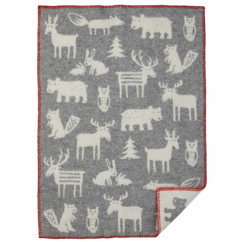 Forest ECO Wool Baby Blanket, Grey