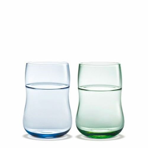 Future Glass, Blue / Green, Set of 2