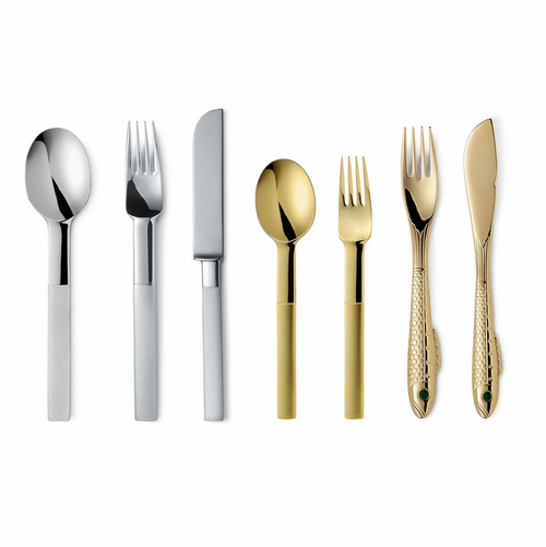 Gense Nobel Silver / Gold Plated 7 Piece Place Setting