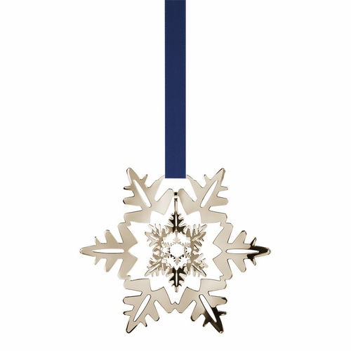 Georg Jensen 2011 White Gold Plated Snow Crystal Ornament - SOLD OUT