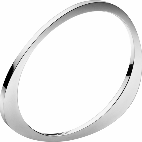 Georg Jensen Extra Sterling Silver Bangle 1/8 Inch (3Mm) Wide Medium