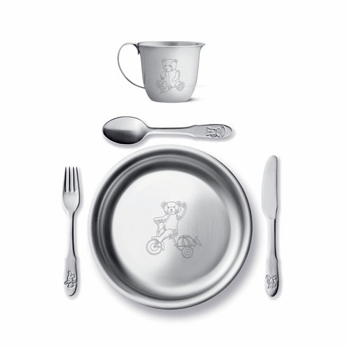 Georg Jensen Julius Child's Set - Cup, Deep Plate & Cutlery - Denmark - SOLD OUT