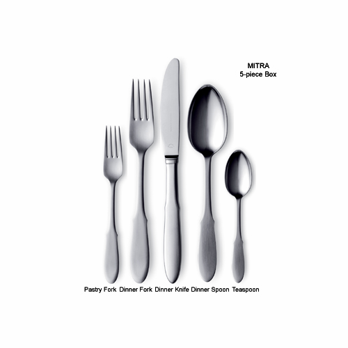 Georg Jensen Mitra Steel Child's Fork 6""