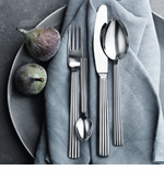Georg Jensen Steel and Sterling Silver Flatware