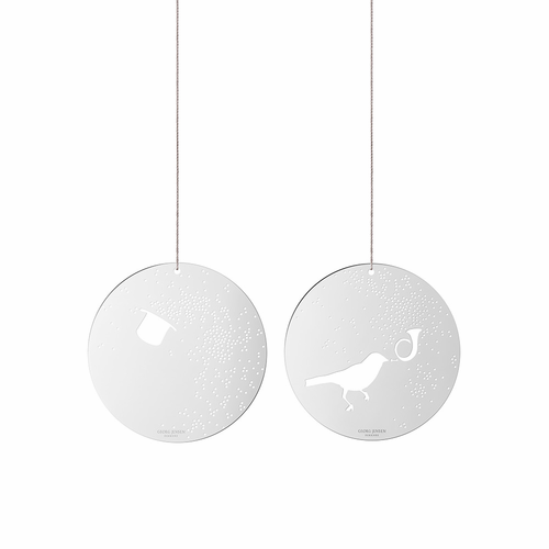Georg Jensen Top Hat and Bird Ornaments