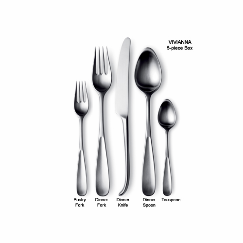 Georg Jensen Vivianna Steel Child's Fork 5.9""