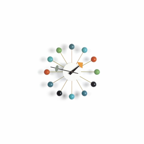 Vitra George Nelson Ball Wall Clock, Multicolored