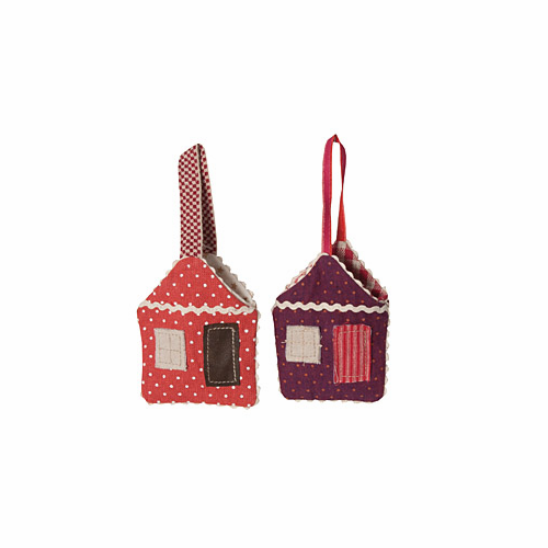 Gingerbread Houses Ornamnents - set of 2