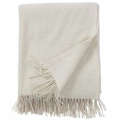 Gobi Brushed Merino Wool Throw, Ivory