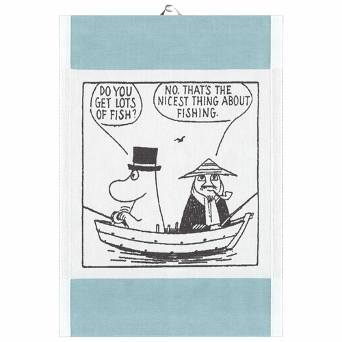 Gone Fishing Tea Towel