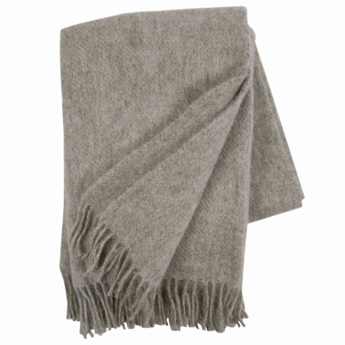 Gotland Brushed Gotland Wool Throw, Natural Grey