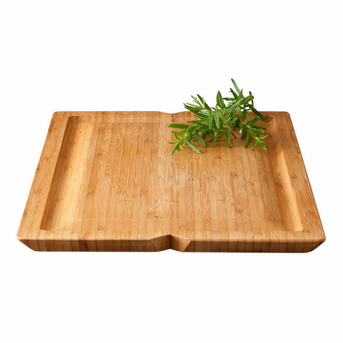 Grand Cru Chopping Board With Juice Rim, Bamboo
