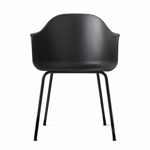 Harbour Chair, Black/Black Steel Base
