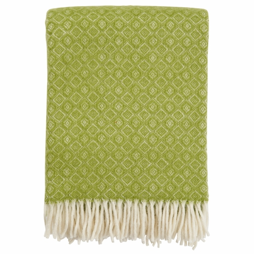 Havanna Brushed Lambs Wool Throw, Green